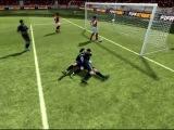 Смешной поцелуй в игре FIFA 2012